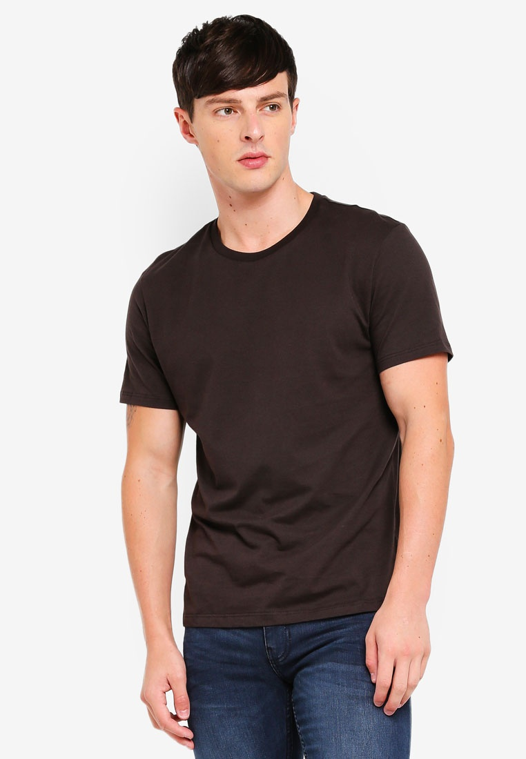 Chocolate Neck London Shirt T Crew Brown Burton Brown Menswear dOq4Hwdx