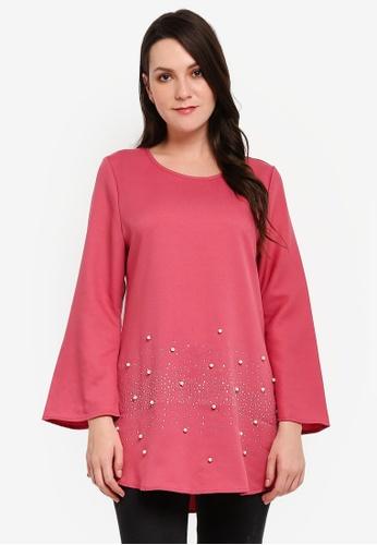 BYN pink Muslimah Blouse 10124AA32EE61DGS_1