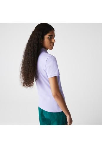 Lacoste purple Women's Lacoste Slim fit Stretch Cotton Piqué Polo Shirt 75208AAE0657BDGS_1
