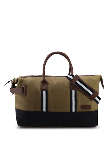 River Island brown Canvas Holdall Bag 95E2FACE679E03GS_1