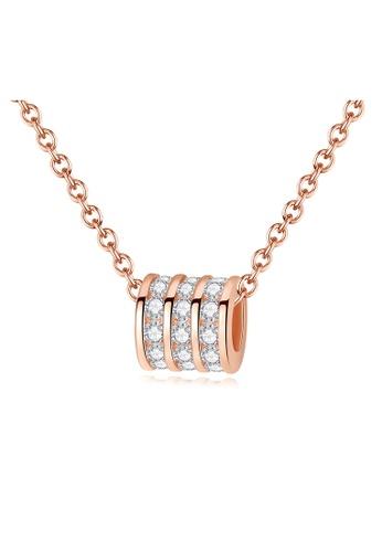 MATCH Premium Silver S925 Rose Gold Simple Design Necklace A906CAC0CEF743GS_1