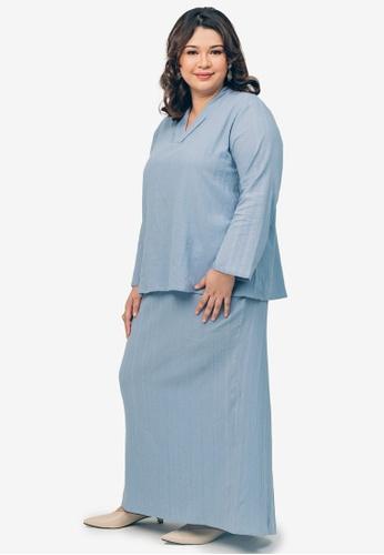 UMMA blue Elenor Kurung 0425EAA18343B7GS_1