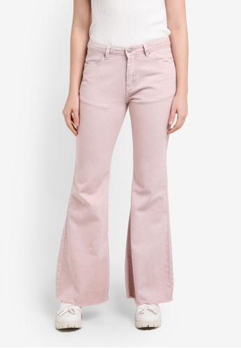 Zalia pink Garment Dyed Cropped Wide Leg Jeans FCEF9ZZ0050DA7GS_1