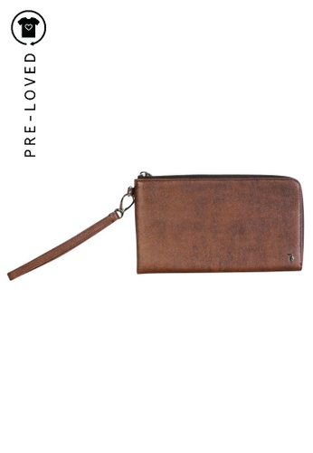 Tod's brown Pre-Loved tods Brown Big Wallet EC914ACD58CDC9GS_1