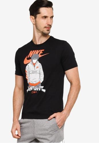 Nike black and grey Air Manga Futura T-Shirt 0E4C7AA12C9FE8GS_1