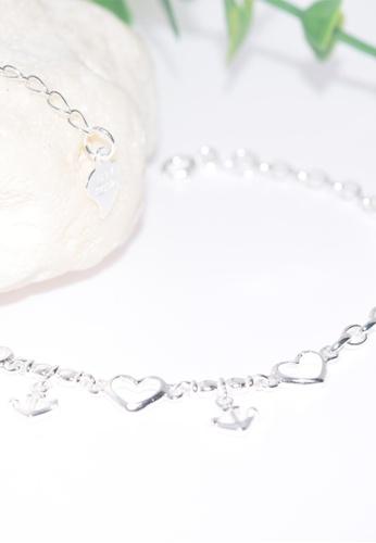 SC Tom Silver silver Anchors and Heart Bracelet/Ladies Bracelet-BCL016 SC872AC0K2W3PH_1