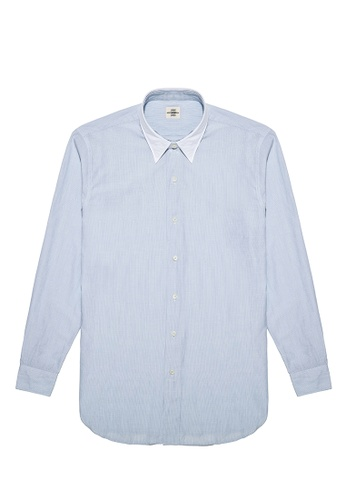 Kent and Curwen blue Blue Cotton Casual Shirt BC3A4AA9C39F4FGS_1