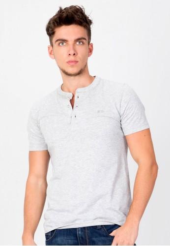 SJO & SIMPAPLY white and grey SIMPAPLY's Gramero Light Grey Men's T shirt SJ108AA0VSKYID_1