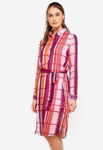 Pieces pink Simona Shirt Dress 9605EAA03C358FGS_1