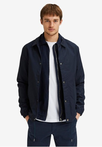 Selected Homme navy Water Repellent Coach Jacket 34DCDAA636A090GS_1