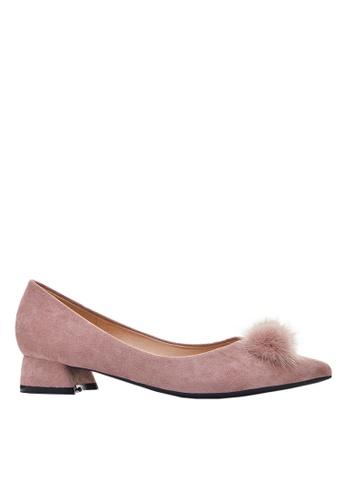 Twenty Eight Shoes Fur Bow Low Heel 333-31 344E0SHE76CDCAGS_1