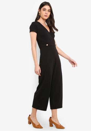 Dorothy Perkins 黑色 鈕釦連身褲 9F839AAFFAFC4AGS_1