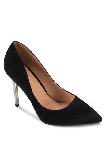 Dahlia 仿麂皮esprit童裝門市金屬細高跟鞋, 女鞋, 鞋