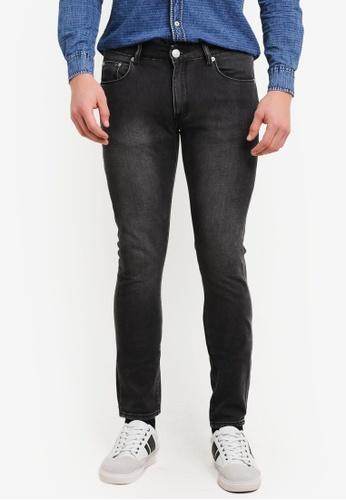 Electro Denim Lab 黑色 Indie Skinny Jeans EL966AA0SF7XMY_1