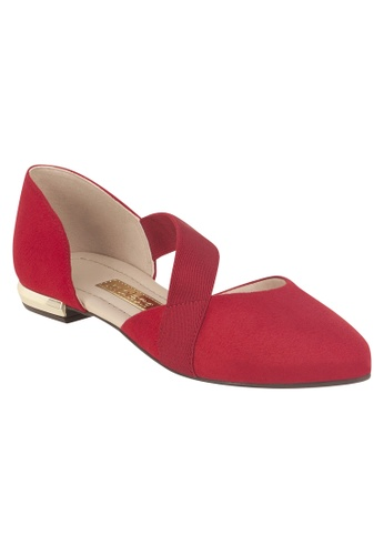 Beira Rio red Side Strapped Classy Solid Colored Flats MO996SH57ETIHK_1