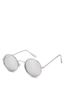 288c8bc8e4ca Silver Round Detail Sunglasses 25313GLA914DB0GS 1