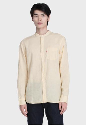 Levi's yellow Levi's Mandarin One Pocket Shirt Men 47784-0007 9C74CAAE3FDF80GS_1