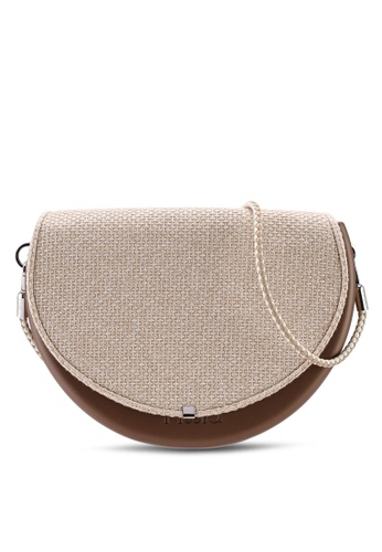 Hoola Hoola brown Chiara Saddle - Bronze Woven with Champagne & Ice strap 2C348ACEE4B35BGS_1