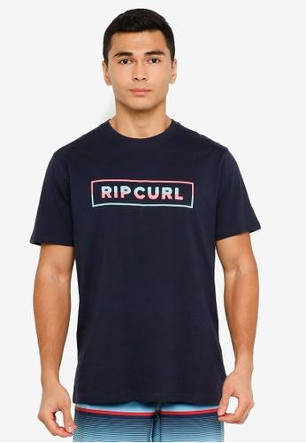 Rip Curl navy Split Tee BD68EAAA71F24EGS_1