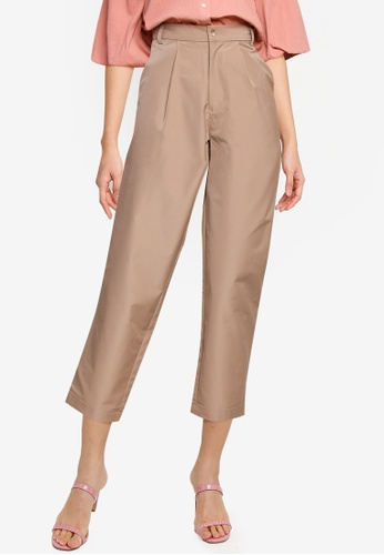 The Duo brown 3/4 Ironless Pants CED75AA57A3EC2GS_1