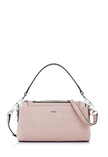 BONIA pink Blush Pink Avenue Sling Bag B199CACED11311GS_1