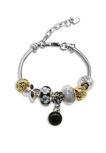 Her Jewellery multi Pearl Charm Bracelet (Black) HE581AC0RB19MY_1