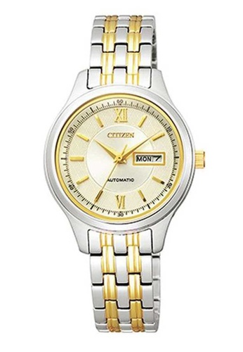 CITIZEN silver Citizen Automatic Gold and Silver Stainless Steel Watch B90CFAC612DBB5GS_1