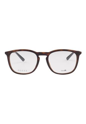 Gucci brown GUCCI Eyewear 1143/F 3MA GU112AC62OVHMY_1