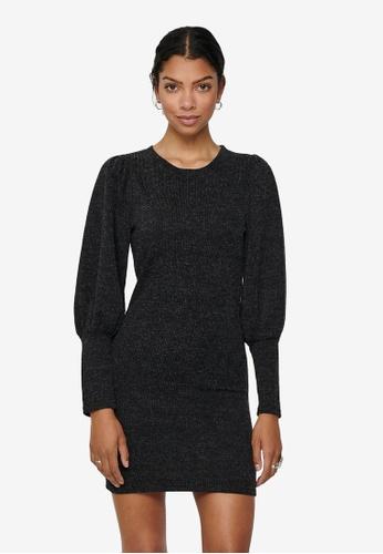 JACQUELINE DE YONG grey Emma Long Sleeve Puff Sleeve Dress 57673AAFAFECCAGS_1