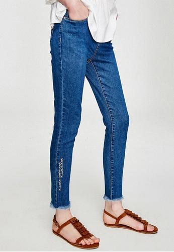 Hopeshow blue Skinny Fit Denim Jeans 5399BAAFFC07EFGS_1