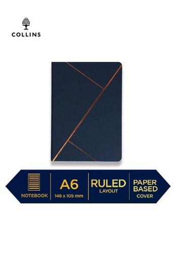 Collins blue Collins Vanguard  ─  NotebookA6 Ruled Blue Straight 8D3B1HL161DA35GS_1