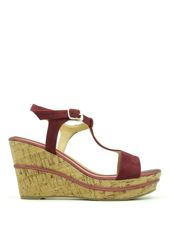 "Carlo Rino red Carlo Rino 333000-249-14 3.5"" Sandal Wedges Platform (Red) 6BC0ASH2B63D08GS_1"
