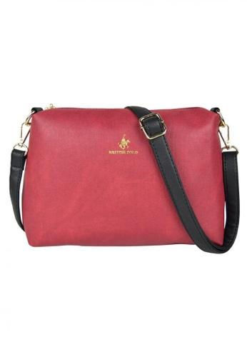 British Polo red Simply Sling Bag-Saffiano Red BF971ACA2B7677GS 1 df1ed56d22466