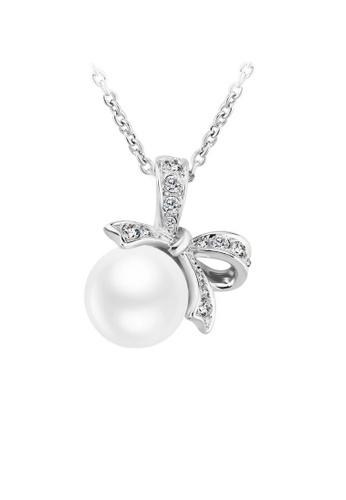 OUXI silver OUXI Pearl Necklace 11292 (Silver) OU821AC94XDLMY_1