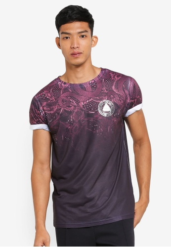 River Island red Red Snake Fade T-Shirt 67471AAB13F72DGS_1