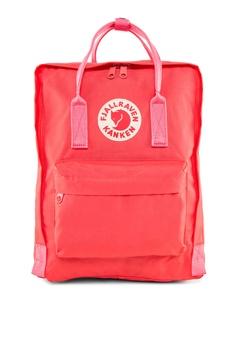 0798a5337032a Fjallraven Kanken pink Peach Pink Kanken Classic Backpack FJ859AC16BTFSG 1