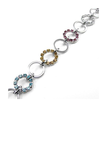 Glamorousky multi Elegant Circle Bracelet with Multi-color Austrian Element Crystal 043B6AC875C1F7GS_1