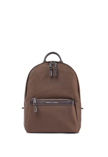 MARCO LAURENT brown Lissome Nylon Backpack (Medium) E5122AC97FE677GS_1
