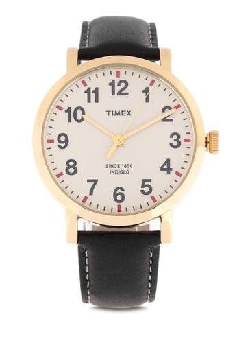 TIMEX black Easy Reader Strap Leather Watch 23BDFAC83F1C2CGS_1