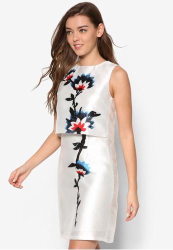 Carolina's esprit服飾兩件式印花連身裙, 服飾, 洋裝