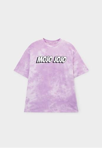 Pomelo purple The Powerpuff Girls Mojo Jojo Graphic T-Shirt - Purple 850A9AA72B669DGS_1