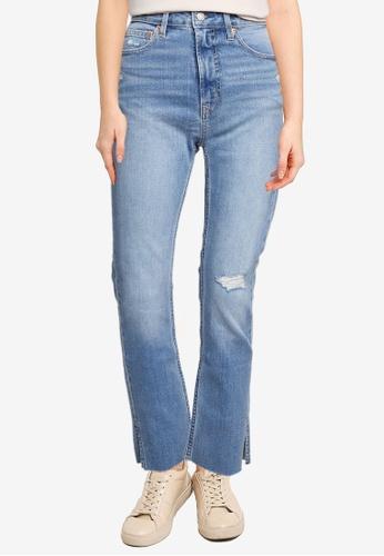 GAP 藍色 Vintage 修身側開衩細節 丹寧 牛仔褲 F9540AA00A1B28GS_1