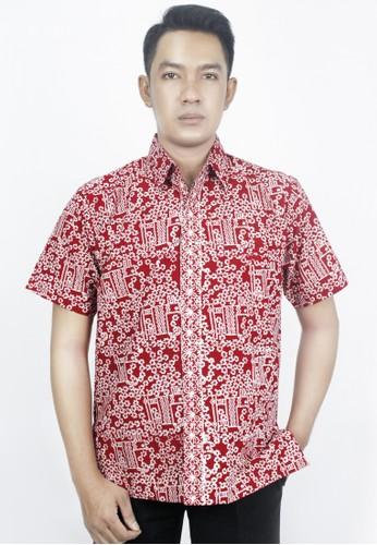 INA PRIYONO white and red Hem Batik Pria Merah Motif Warak Ngendog by Ina Priyono 89C16AAFCCFE31GS_1