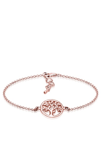 Elli Germany gold Coin Tree Of Life Rose Gold Plated 925 Silver Bracelet EL474AC0S1ZBMY_1