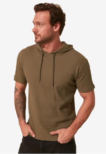Trendyol green Hooded T-Shirt 371F7AA58DD630GS_1