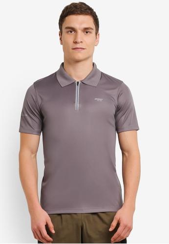 2GO grey GO Dry Polo Shirt 2G729AA0S5YPMY_1