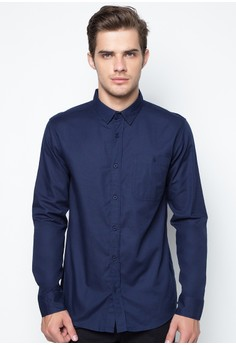 Men's Long Sleeved Shirt In Oxford Fabric