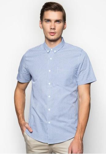 格紋短袖襯衫, 服飾, 印花esprit outlet 旺角襯衫