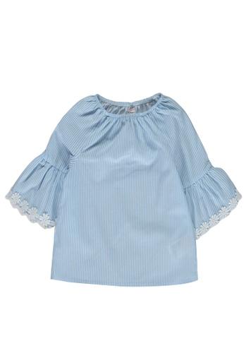 LC Waikiki blue Baby Girl's Striped Poplin Blouse 02844KAD2A2798GS_1