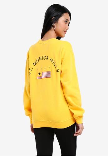 TOPSHOP yellow Santa Monica Sweatshirt F6B79AA96FEF75GS_1